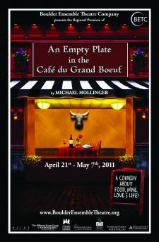An Empty Plate at the Cafe du Grand Boeuf, Boulder Ensemble Theatre Company, BETC, He Said She Said, Denver, Theater