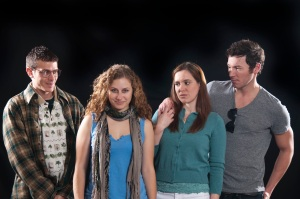 The cast of The Shape of Things at Devil's Thumb, Boulder, Theatre